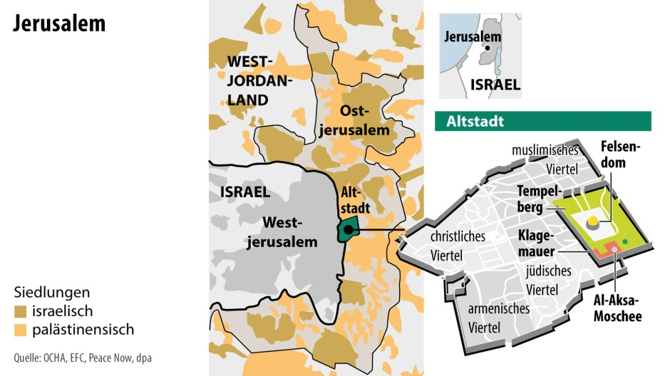 Jerusalem Karte Heute.Darum Verlegt Donald Trump Die Amerikanische Botschaft Nach