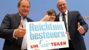 Aktionsbündnis fordert Reichensteuer
