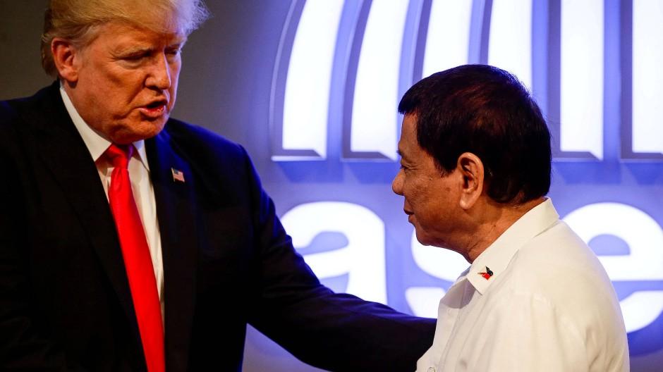 Präsidenten: Duterte mit Trump auf dem Asean-Gipfel in Manila im November 2017