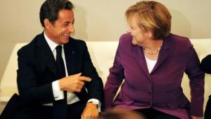 Sarkozy und Merkel reden über das Missverständnis