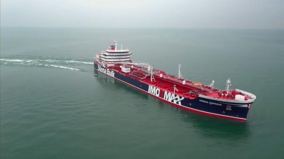 """Iran hat den unter britischer Flagge fahrenden Öltanker """"Stena Impero"""" in der Straße von Hormuz gestoppt."""