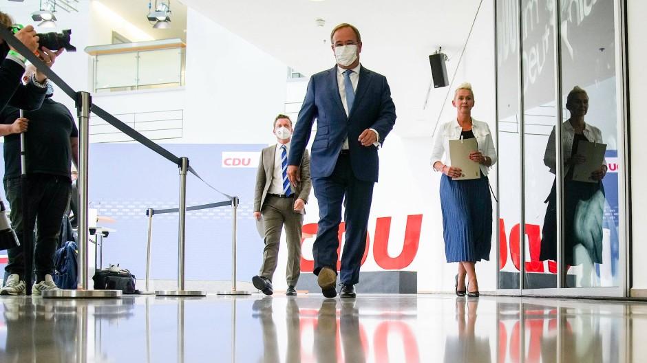 Im Kampfmodus: Armin Laschet am Montag im Konrad-Adenauer-Haus