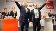 Kanzlerkandidat Steinmeier im saarländischen Siersburg: Heftige Angriffe gegen die Union