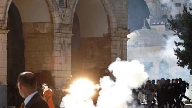 Israels Polizei stürmt Tempelberg