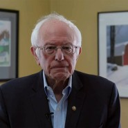 In einer Videobotschaft gab Bernie Sanders seinen Rückzug bekannt.
