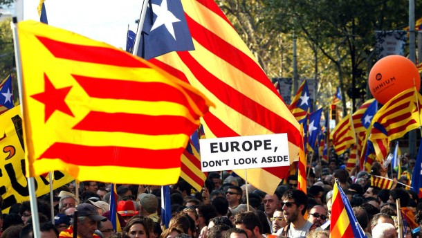 Demonstration für ein unabhängiges Katalonien