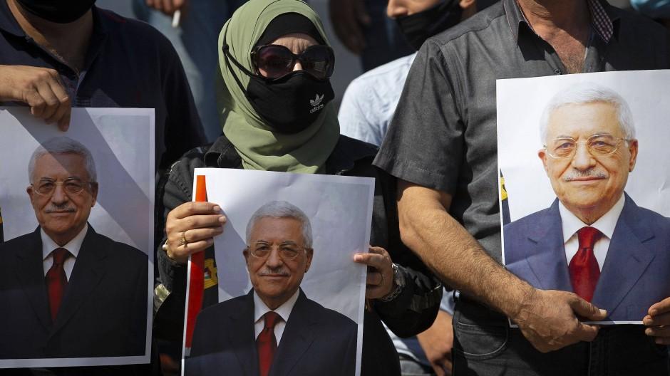 Auf einer Demonstration zur Unterstützung von Palästinenserpräsident Mahmus Abbas im September 2020 in Tubas im Westjordanland