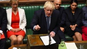 Johnson fordert Opposition zu Misstrauensvotum auf