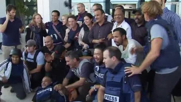 Vier italienische Journalisten in Tripolis entführt