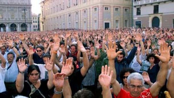 Demonstrationen gegen Polizeigewalt in Genua
