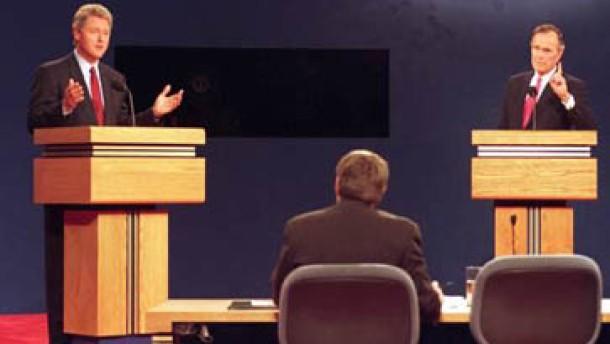 In Amerika gehören TV-Duelle schon lange zum Wahlkampf