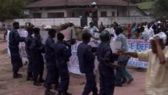 Proteste in Kinshasa