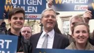 Norbert Röttgen führt einen einsamen Kampf für die CDU. Am Sonntag will er die SPD-Ministerpräsidentin Hannelore Kraft aus der Staatskanzlei vertreiben.