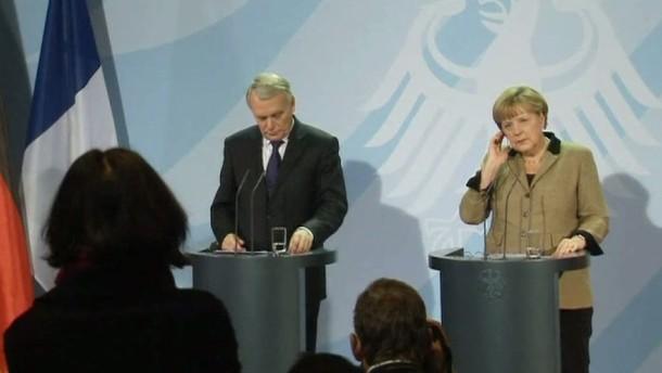 Der französische Premierminister Ayrault zu Besuch in Berlin.