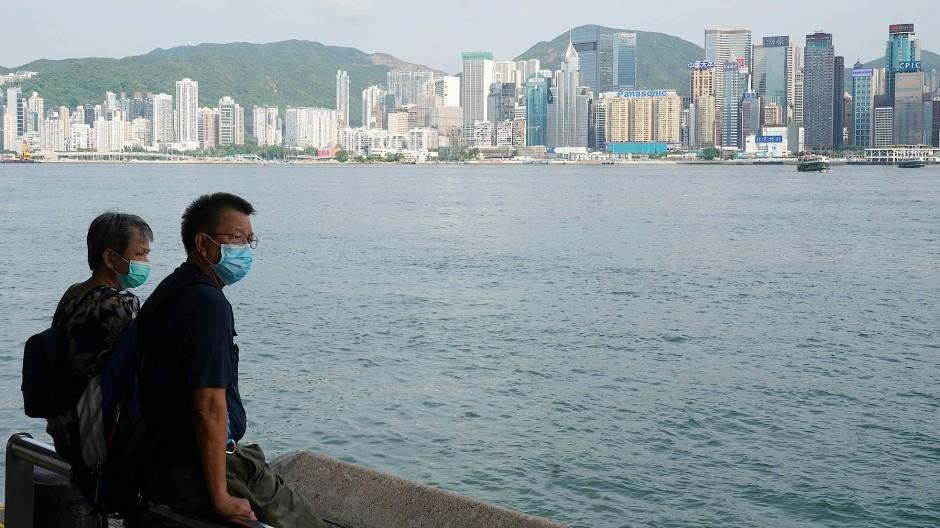 In Tsim Sha Tsui auf der Halbinsel Kowloon