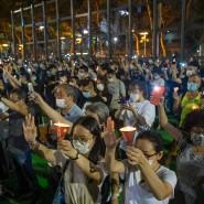 Kampf für Demokratie: Demonstranten versammeln sich im Victoria Park in Hongkong zu einer Mahnwache zum Gedenken an die Opfer des Tiananmen-Massakers in Peking.