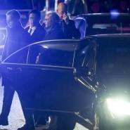Auftritt des Rebellenführers: Am Abend vor der Konferenz kommt General Khalifa Haftar in seinem Berliner Hotel an.
