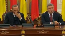 Erdogan schläft während Pressekonferenz ein