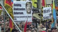 Pegida demonstriert nach der Bundestagswahl