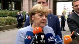 Merkel stärkt Rajoy den Rücken