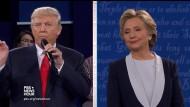 Trump wirkte aggressiver, aber auch nervöser als beim letzten Mal