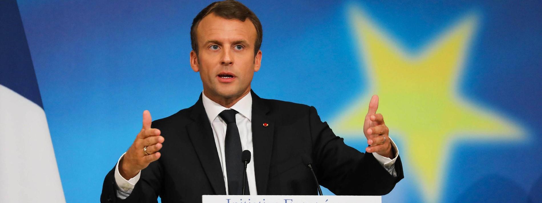 Eine große Bühne für Macron