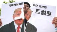 Protest gegen Trumps Entscheidung: Demonstration in Südkorea