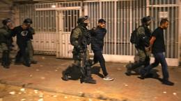 Israels Polizei nimmt Randalierer fest