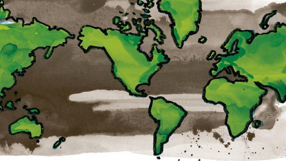 Amerika im Zentrum: So sieht Donald Trump die Welt.