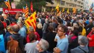 Vor dem spanischen Konsulat in Perpignan kam es im Vorfeld des Referendums zu Protesten.