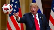Nahm den Ball des russischen Präsidenten Wladimir Putin gerne auf: Donald Trump