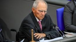 Schäuble zeigt Verständnis für Trumps Forderungen