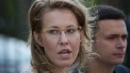 TV-Moderatorin will russische Präsidentin werden