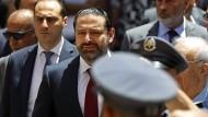 Saad Hariri (Mitte): Wohl die dritte Amtszeit im Libanon für den sunnitischen Politiker