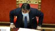 Kündigte am Montagabend seinen Rücktritt an: Italiens Ministerpräsident Giuseppe Conte