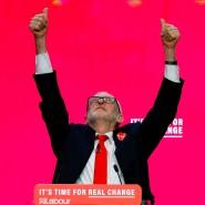 Jeremy Corbyn am 21. November während der Vorstellung des Wahlprogramm der Labour Party in Birmingham.