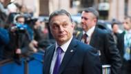 Victor Orbán auf dem EU-Sondergipfel in Brüssel