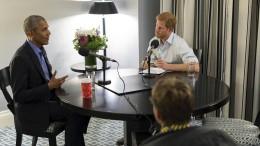 Prinz Harry löchert Obama mit Fragen