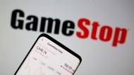Objekt der Begierde: GameStop-Aktien gingen kurzzeitig durch die Decke.