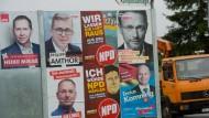 Um Platz drei bei der Bundestagswahl wetteifern AfD, FDP und Linke. CDU, SPD und NPD haben mit diesem Kampf wohl nichts zu tun.