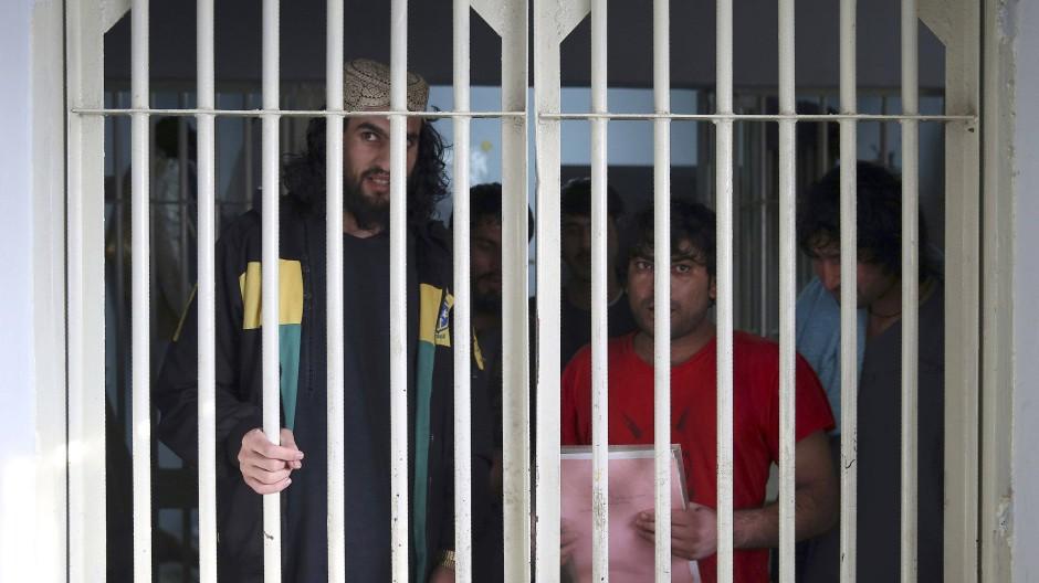 Gefangene Taliban im Dezember 2019 in einem Gefängnis in Afghanistan