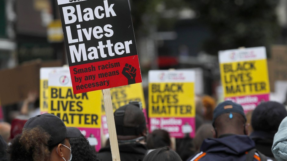 """Eine """"Black Lives Matter""""-Demonstration im August 2020 in London"""