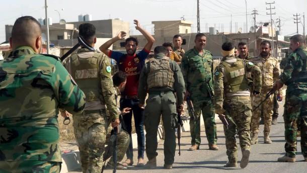 Irakische armee kontrolliert moeglichen is kaempfer