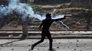 Gegen eine Sozialreform: Protestler bei einer Demonstration in Managua