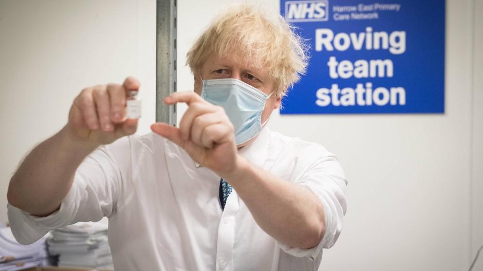 Boris Johnson im Januar in London