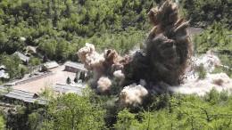 Trump: Nordkorea hat mit Abrüstung begonnen
