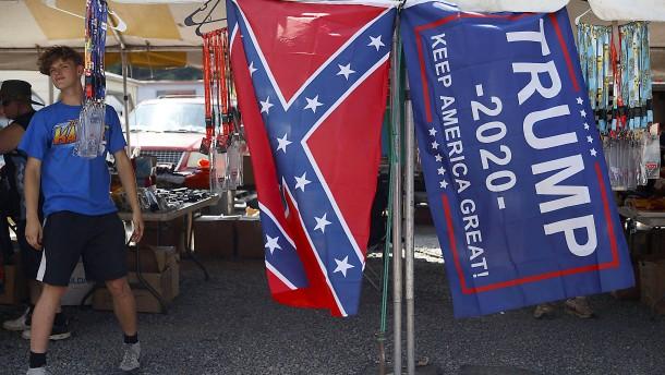 Trump verteidigt Konföderiertenflagge