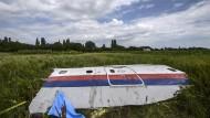 Wrackteil des Fluges MH17 in der Ostukraine