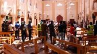 Die St.-Sebastian-Kirche nach dem Anschlag