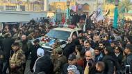 Trauerzug für Qassem Soleimani am Samstag in Bagdad